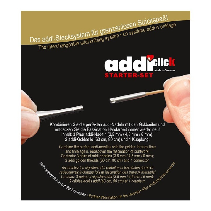 Набор стартовый для комбинирования спиц системы addiClick Starter-set 1