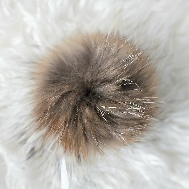 Помпон из меха енота, 15 см